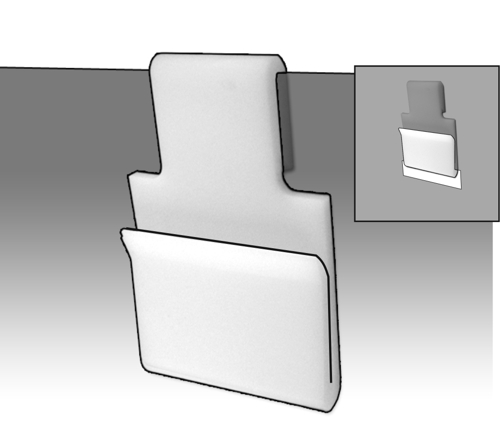 Dispenser Box Rear Clip - PBH